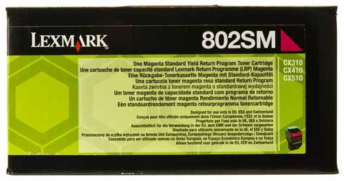 CX310 Standard Yield Magenta Return Program Toner Cartridge (2,000 pages*)