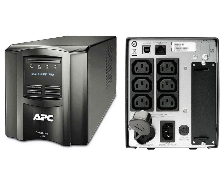 APC SMT750I Smart-UPS, 500 Watts / 750 VA, Input 230V / Output 230V,  Interface Port SmartSlot, USB