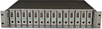 14-slot unmanaged media converter chassis