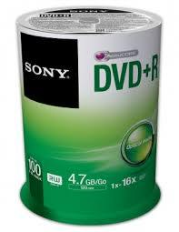 Sony 100PK DVD-R SPINDLE