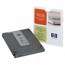HP 9.1GB write once Magneto Optical disk 4096bps  Formatted