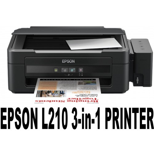 EPSON L210  ULTRA-LOW-COST PRINTING All-in-one with Epson-brand high-capacity integrated ink tank system, for cost-effective, reliable colour printing