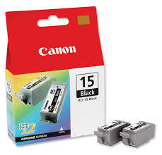 Bubble Jet i80 BCI-15BK Black Ink Cartridges Twin Pack (2x 80 pages*)