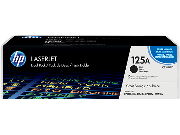 LaserJet CP1215 Black Toner Cartridge Twin Pack (2x 2,200 pages*)