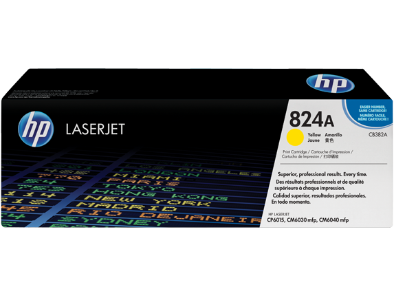 LaserJet CP6015 Yellow Toner Cartridge (21,000 pages*)
