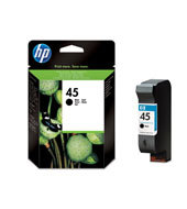 HP 45 Black Inkjet Print Cartridges C51645A