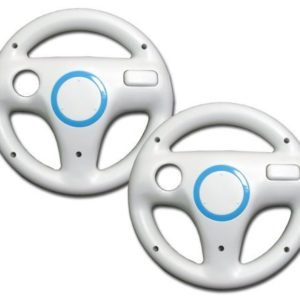 Generic Mario Kart Racing Wheel for Wii (2pcs Bundle)
