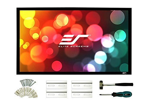 Elite Screens Sable Frame 2 Series, Fixed Frame Projection / Projector Screen, 135-inch Diag. 16:9, ER135WH2