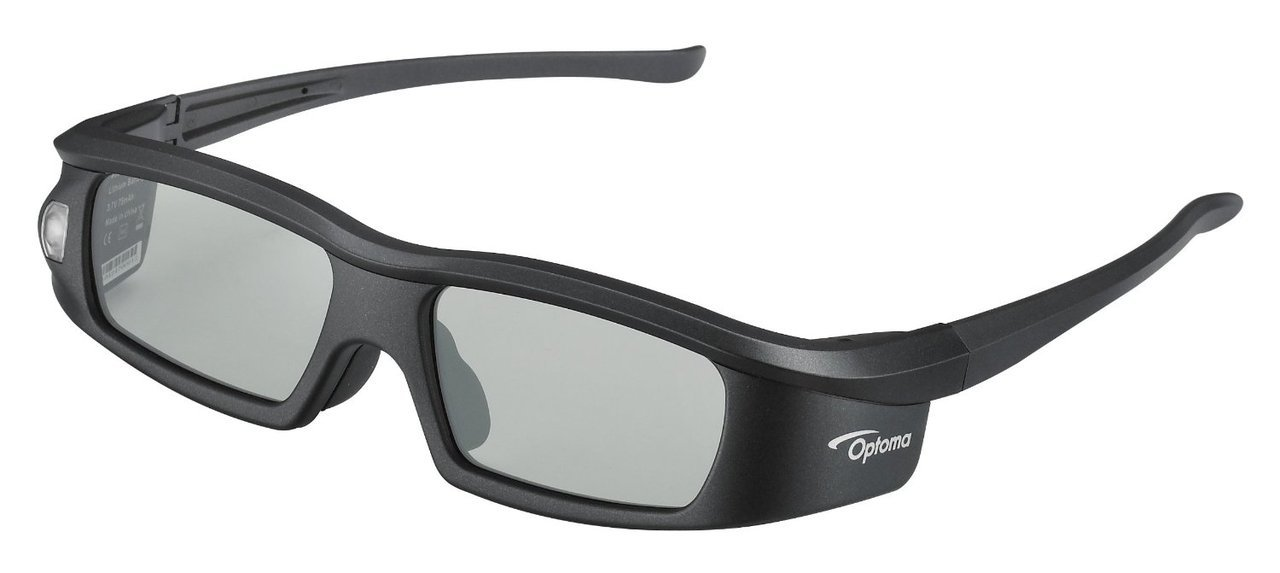 Optoma BG-ZD301, DLP Link, Active Shutter 3D-Glasses (Black)