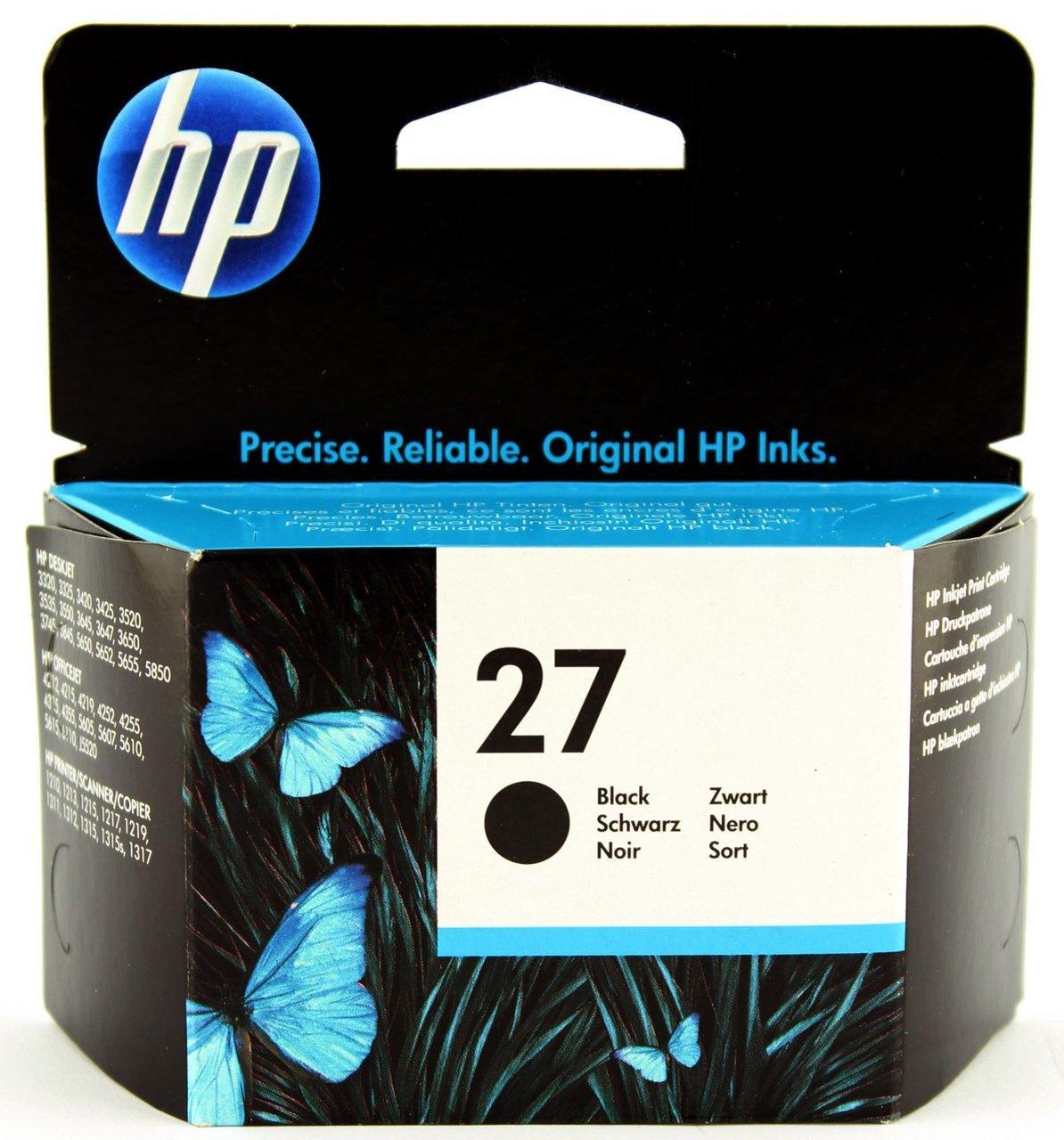HP 27 - Black Inkjet Print Cartridge (C8727AE)