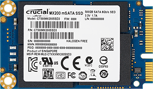 Crucial MX200 250GB mSATA Internal Solid State Drive - CT250MX200SSD3