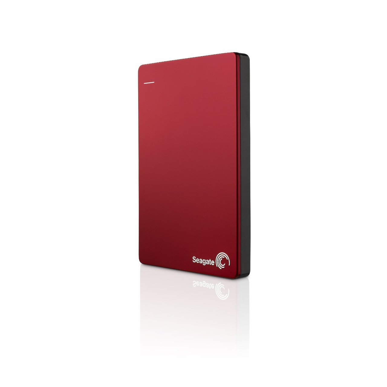 Seagate Backup Plus Slim 2TB Portable External Hard Drive with Mobile Device Backup USB 3.0 (Red)