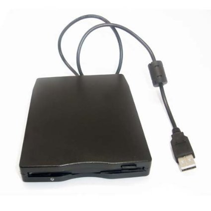 SIENOC External USB 2.0 FDD 1.44MB Portable Diskette Floppy Disk Drive PC Color Black