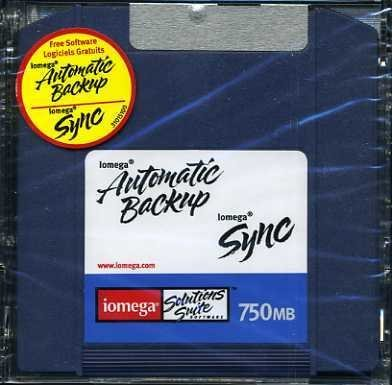 Iomega ZIP 750MB Automatic BackUp Sync Disk, New & Sealed!