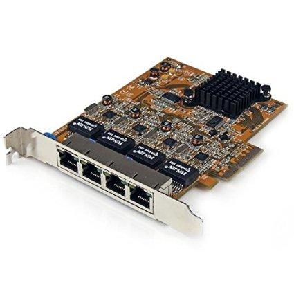 StarTech.com 4 Port PCI Express PCIe Gigabit Ethernet NIC Network Adapter Card (ST1000SPEX42)