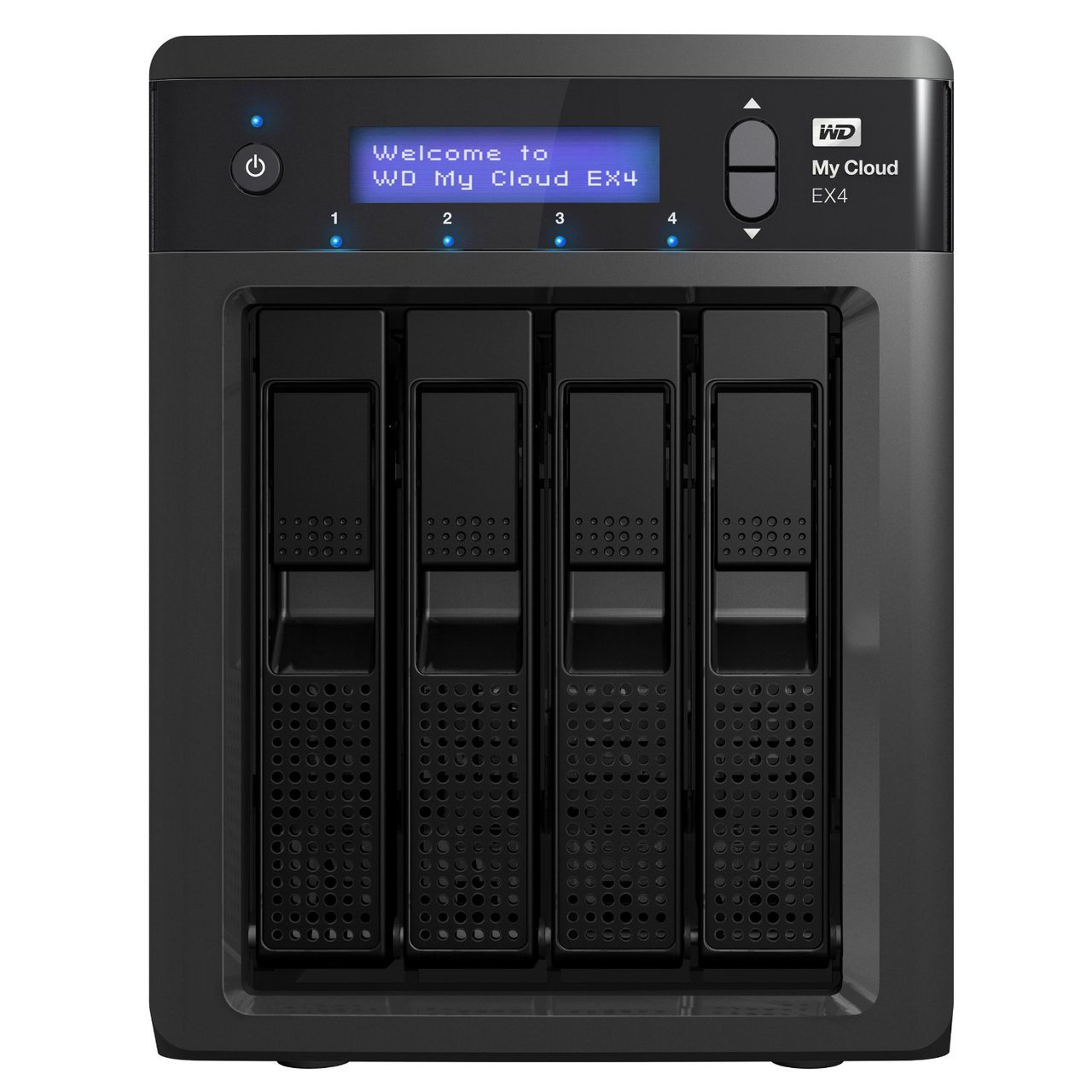 WD My Cloud EX4 WDBWWD0120KBK-EESN 12TB 4 Bay Desktop NAS