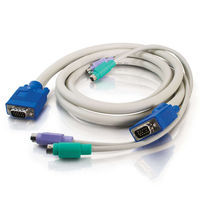 30ft 3-in-1 HD15 VGA MM + PS/2 MM Generic KVM Cable