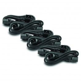 APC AP98896F Power Cord Kit (6 ea), C19 to C20 (90 degree), 1.8m