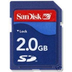 SanDisk 2 GB Secure Digital SD Memory Card
