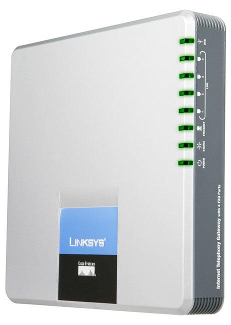 Cisco SPA400 Internet Telephony Gateway with 4 FXO Ports
