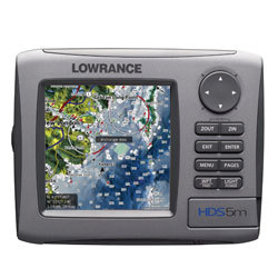 Lowrance HDS - 5 Multifunction Fishfinder/GPS Chartplotter