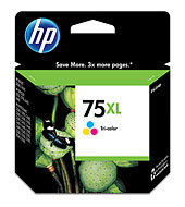 HP 75XL Tri-color Inkjet Print Cartridge CB338WN