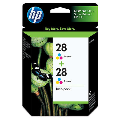 HP 28 Tri-Color Twin Pack CD995FN