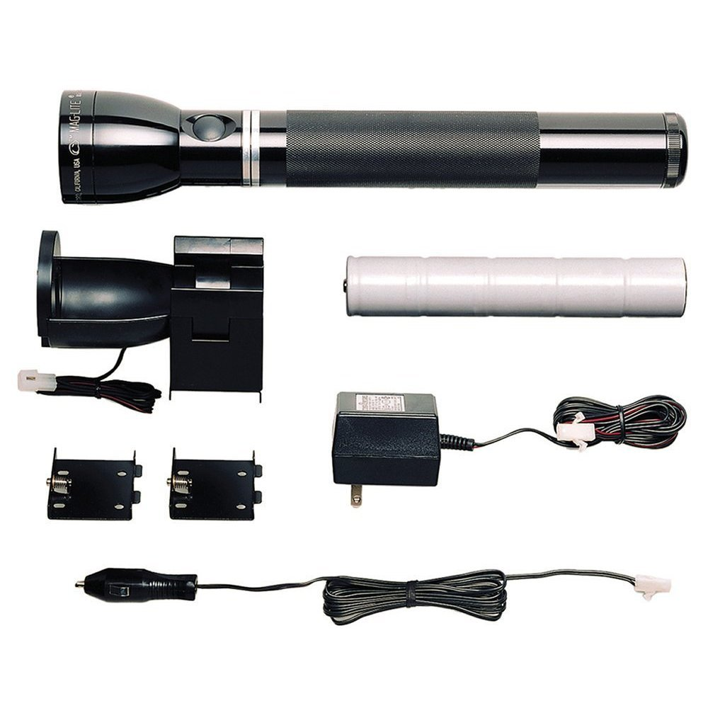MagLite RL4019R Heavy-Duty Rechargeable LED Flashlight System, Black