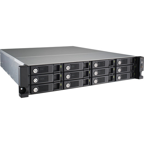 QNAP TS-1253U-RP 12-Bay Powerful, reliable and scalable NAS Server equipped  with redundant power supplies for SMBs